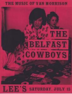 Flyer Belfast Cowboys PJ party